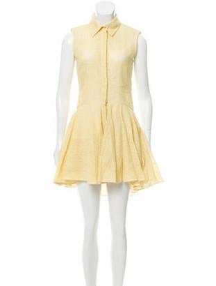 Alexander McQueen Lace Mini Dress Yellow