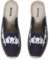 Soludos Women's Mules Midnight - Midnight Blue Frayed Floral Espadrille Mule - Women