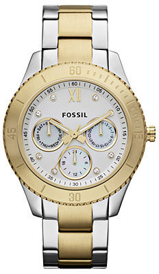 Fossil Watch, Women's Stella Two Tone Stainless Steel Bracelet 37mm ES3208 - First @ Macy's!
