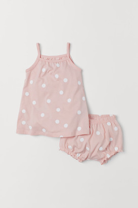 H&M Dress and Puff Pants - Pink
