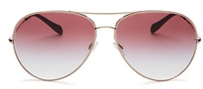 Oliver Peoples Women's Sayer Brow Bar Aviator Sunglasses, 63mm