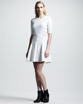 Rag and Bone Rag & Bone Nikki Mixed-Knit Flare Dress