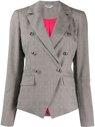 Liu Jo Checked Print Blazer