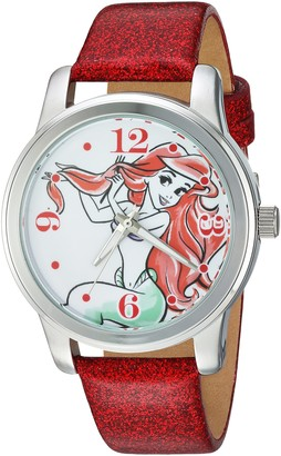Disney Women's Ariel Analog-Quartz Watch with Leather-Synthetic Strap