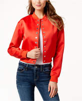 GUESS Satin Bomber Jacket