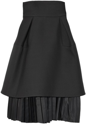 Dice Kayek Short Full Skirt in Black