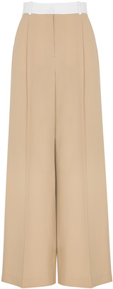Racil Peter Camel Wide-leg Stretch-wool Trousers