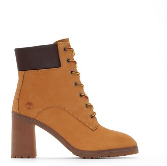 Timberland Allington CA1HLS Leather Ankle Boots with High Heel