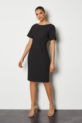 Karen Millen Short Sleeve Tailored Dress