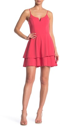 Rowa V-Notch Wired Double Layer Skater Dress