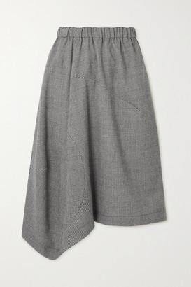 Comme des Garçons Comme des Garçons Asymmetric Houndstooth Wool-blend Skirt - Black