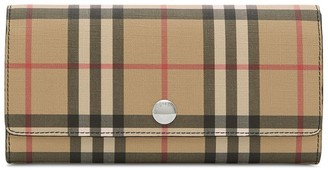 Burberry Vintage Check E-canvas Continental Wallet