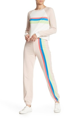 Wildfox Couture Striped Jogger Pants