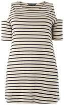 Dorothy Perkins **DP Curve Stripe Cold shoulder top