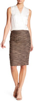 Catherine Malandrino Woven Slim Skirt