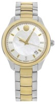 Movado Bellina 0606979 Stainless Steel with Mother of Pearl Dial 36mm Womens Watch