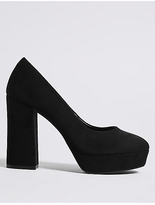 M&S Collection Block Heel Closed Toe Court Shoes