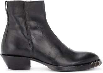 Moma Texan Ankle Boot By Stella Preto Made Of Black Leather