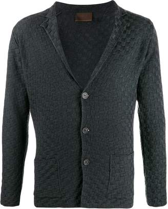Altea checked knitted cardigan