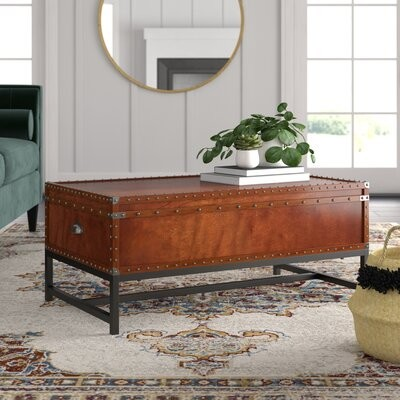 Thumbnail for your product : World Menagerie Mojica Coffee Table with Storage