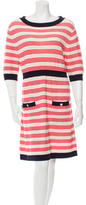Chanel Stripe Pattern Knit Dress