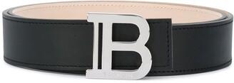Balmain B logo buckle belt