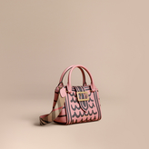 Burberry The Small Buckle Tote in Trompe L'oeil Print Leather