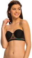 Hobie A Stitch In Time Underwire Bandeau Bikini Top 8140326