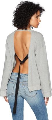 Pam & Gela Women's Open Back Sweatshirt