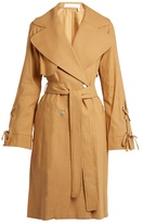 See by Chloe Double-breasted linen-twill trench coat