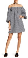 Soprano Gingham Off-the-Shoulder Dress