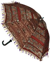 Lal Haveli Indian Umbrella Decorations 24 X 28 Inches