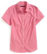 Tommy Hilfiger Final Sale- Short Sleeve Dobby Shirt