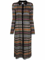 Thumbnail for your product : M Missoni Checked Knitted Cardi-Coat