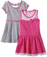 Nannette Toddler Girl Patterned Knit Skater Dress Set