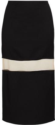 Thierry Mugler Sheer Panel Pencil Skirt