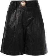 REJINA PYO faux-leather shorts