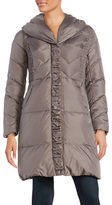 Via Spiga Pillow Collar Quilted Down Puffer Coat