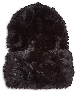 Surell Faux Rabbit Fur Slouchy Beanie