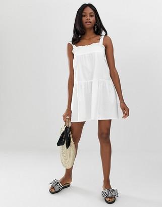 Asos Design DESIGN trapeze mini cotton sundress