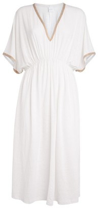 Max Mara Linen-Blend Midi Dress