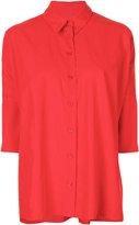 MM6 MAISON MARGIELA three-quarter sleeve shirt - women - Polyamide/Polyester - 38