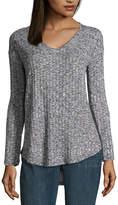 A.N.A Long Sleeve V-Neck Knit Tunic