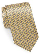 Saks Fifth Avenue Link-Print Silk Tie