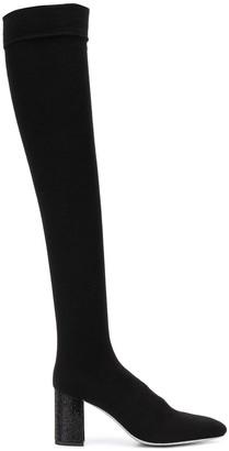Rene Caovilla Thigh-High Block Heel Boots