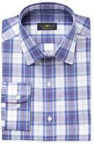 Club Room Men's Big & Tall Fit Wrinkle Resistant Plaid Dress Shirt, Created for Macy's