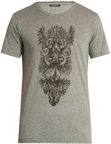 Balmain Totem-print cotton-jersey T-Shirt
