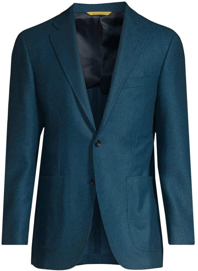Canali Chevron Wool Sport Jacket