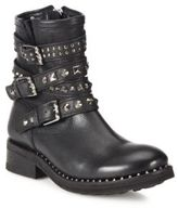Ash Tattoo Studded Leather Moto Booties