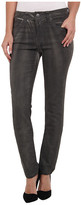 Miraclebody Jeans Rikki Lacquered Five-Pocket Skinny Jean in Smoke